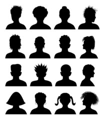 12 avatars, vector