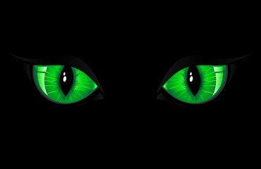 Green Cat Eyes