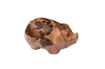 Piggy Bank - white background