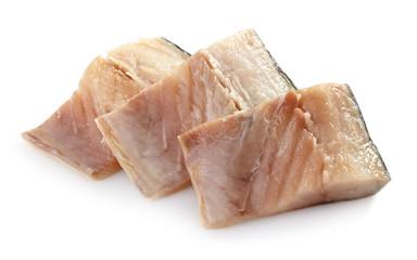 fresh raw mackerel pieces