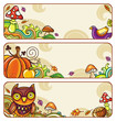 Vector set of decorative autumnal banners. part 1