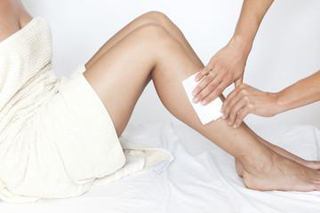 Depilation der Beine