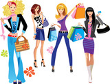 fashion shopping girls