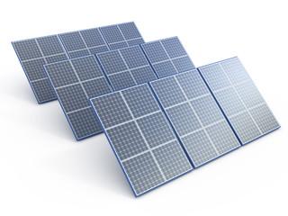 Solar plant. Renewable energy concept on white