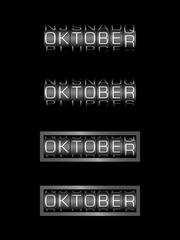 OKTOBER counter calendar - deutsch monat