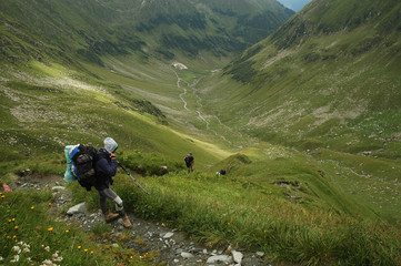 Trekking in Fagaras Mountains, Southern Carpathians, Romania