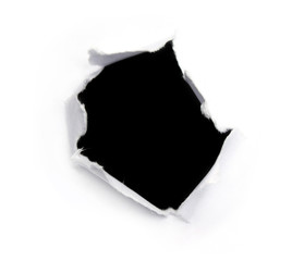 Black hole on a white paper