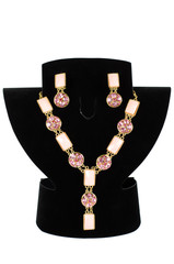 necklace with pendants and earrings