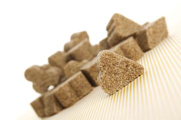 Lump sugar pile