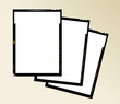 large format film sheet negative set 4 x 5 inch, blank picture f