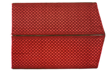 red shoulder strap