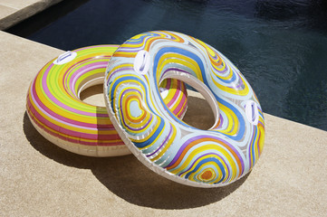 Colorful Pool Tubes