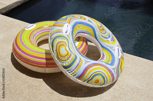 Colorful Pool Tubes