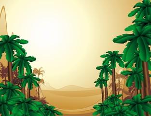 Paesaggio Preistorico Tropicale-Tropical Jurassic Landscape