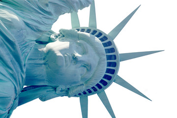 liberty closeup isolated