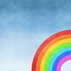 rainbow recycled paper craft background