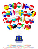Symbolics Balloons Of Europe With Anvil poster