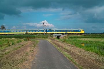 dutch intercity train en route