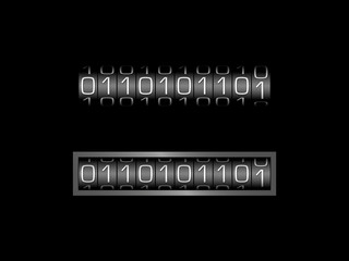 0110101101 BINARY CODE counter