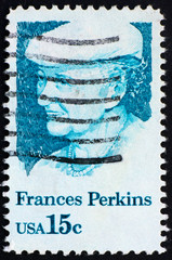Postage stamp USA 1980 Frances Perkins