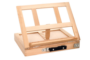 Portable easel on white background