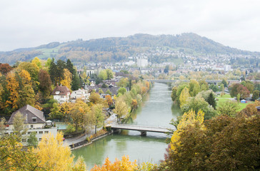 Bern; Switzerland; Swiss; aar; aare; river; multicolored; water;