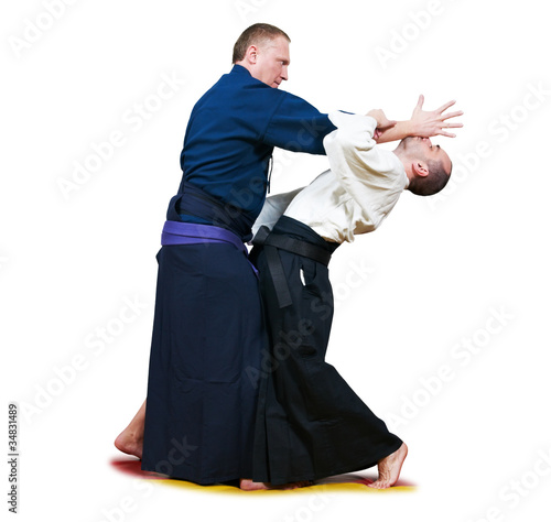 Sparring of two jujitsu fighters