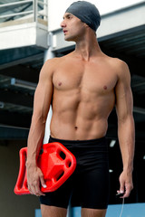 Male lifeguard