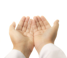 hands raised up for praying