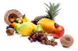 Colorful Fruits on white background.