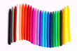 Color Crayons on white