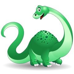 Dinosauro Cucciolo Brontosauro-Baby Dinosaur-Vector