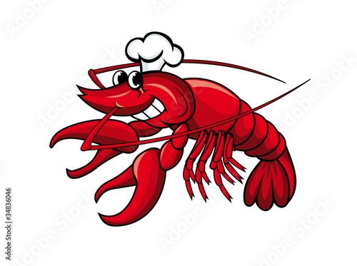 Smiling crayfish chef - 34836046