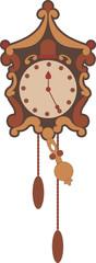 Illustration of vintage clock