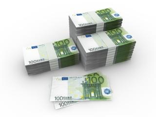 100 Euro Geldscheine - Geldstapel, Geldbündel