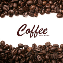Coffee beans stripes with copyspace