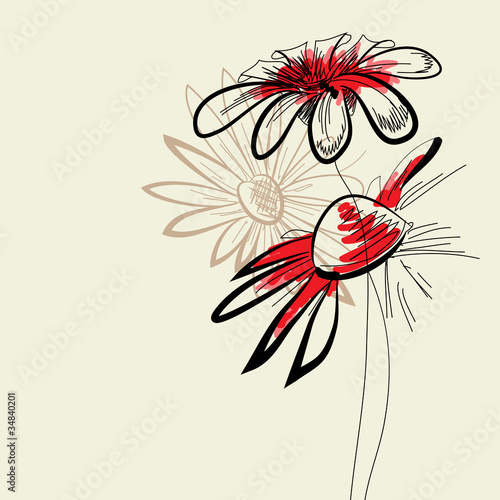 Artistic abstract flowers