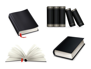 Book collection, black
