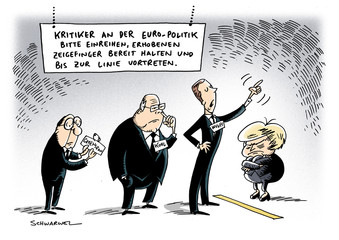 Euro-Politik Merkel Kohl Wulff Greenspan