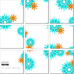 Vector Illustration geometrical mosaic pattern in blue tones