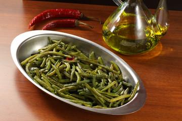 Fagiolini verdi conditi - Green beans seasoned