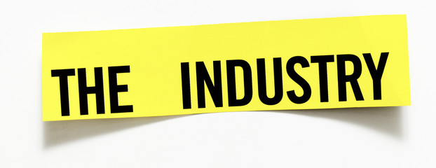 "Clipping ""The Industry""  word on white background"