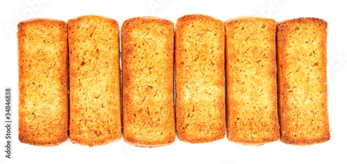 Italian bruschetta bread isolated over white