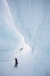 Inside the ice - glacier crevasse