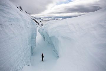 Big glacier crevasse