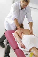Femme - Séance de massage