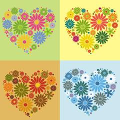 four flower heart