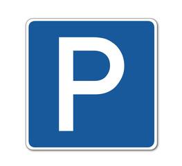 Parkplatz, Verkehrsschild