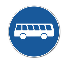 Bus Verkehrsschild