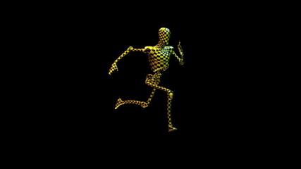 Test Robot Running, Alpha , loop